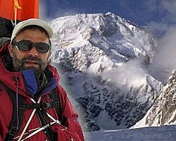Explorer Lonnie Dupre and Mt. McKinley