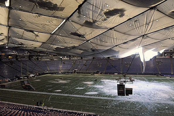 Minneapolis Metrodome Collapses After Snow Storm
