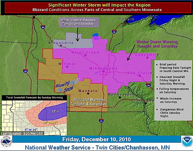 Weather Story for Fri, Dec. 10, 2010