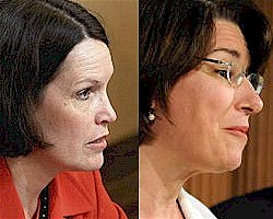 Minnesota Congresswoman Betty McCollum and Minnesota US Senator Amy Klobuchar