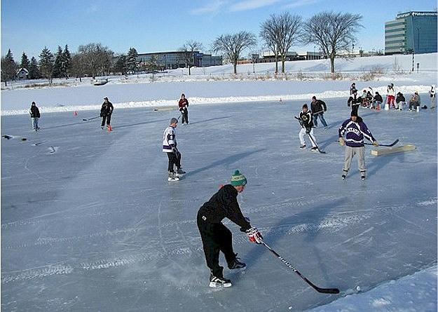 Pond Hockey at Lake George