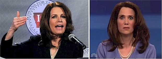Michele Bachmann and Kristin Wiig