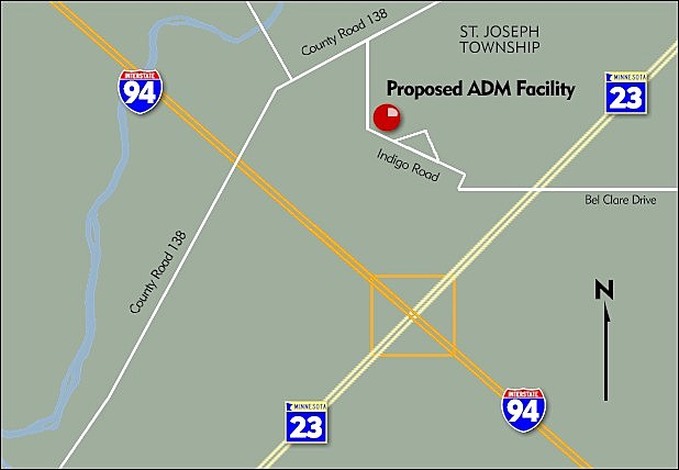 Proposed ADM Facility in St. Joseph Township