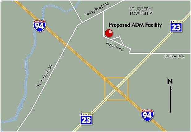 Archer Daniels Midland Plans New Grain Elevator For Stearns County - Us grain elevator map