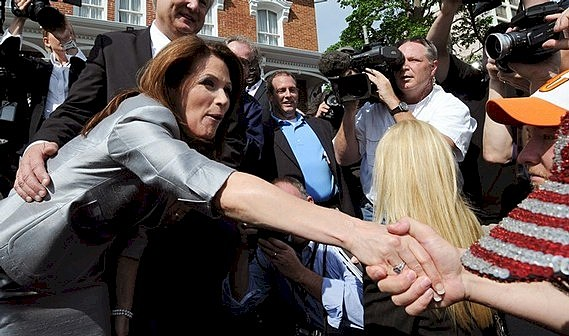 Michele Bachmann Shaking Hands