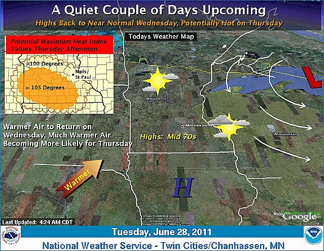 NOAA Weather Story -- June 28, 2011