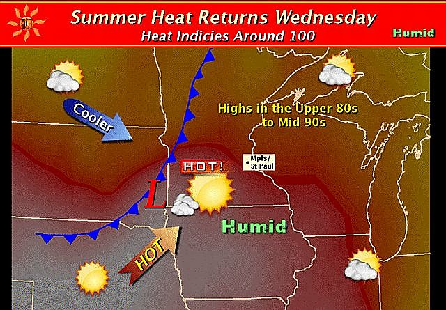 Heat Humidity Return on Wednesday