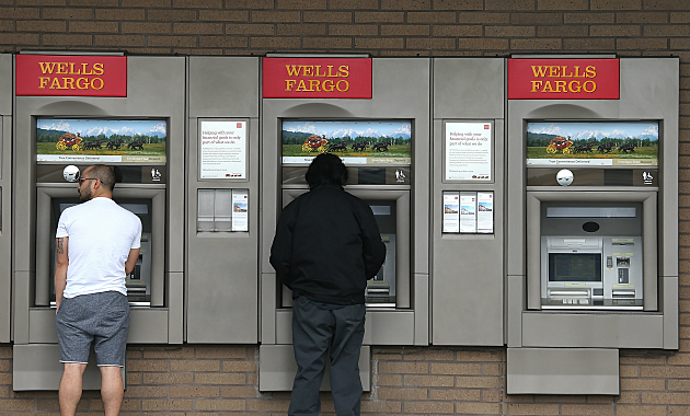 Customers at Wells Fargo