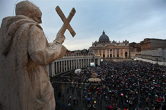 Crowds gather at the Vatican to see who's been elected pope.