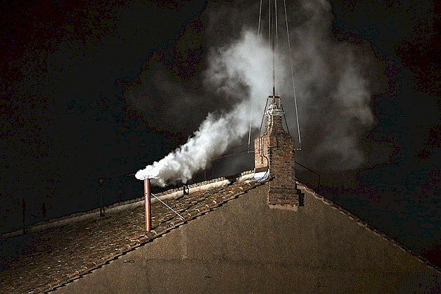 White smoke signals the election of Pope Francis I
