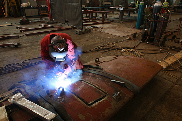 Working welding