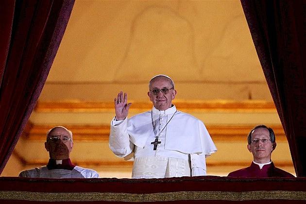Pope Francis on balcony