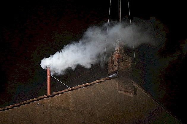 White Smoke from the Vatican's Sistine Chapel