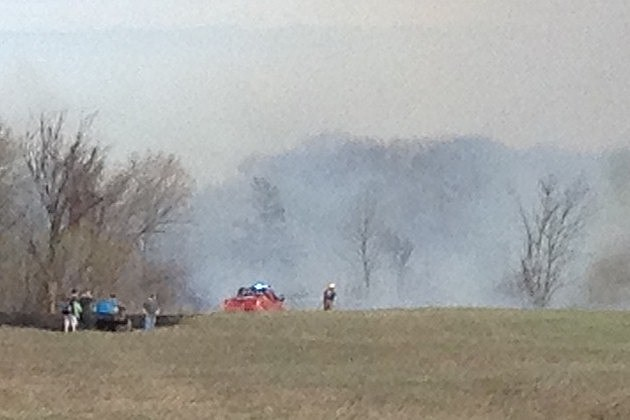 Grassfire on April 30, 2013 at Highway 15 and I-94.