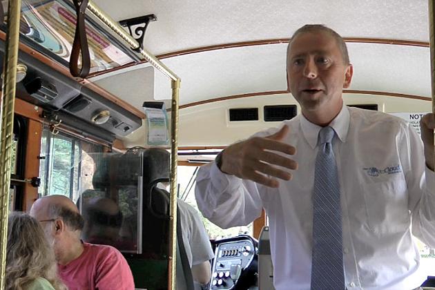 St. Cloud Mayor Dave Kleis gives Trolley Tour (Photo: Alex Svejkovsky, WJON News)