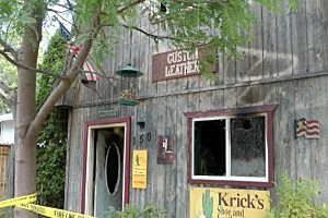 Fire damage to Krick's Shoe and Leather Repair in Waite Park