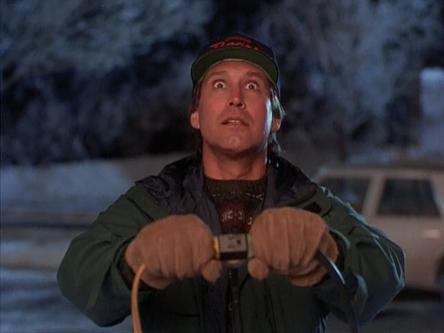 Chevy Chase in Christmas Vacation