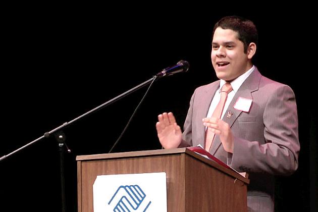 Bryan Court giving his speech