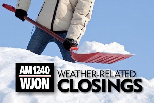WJON Weather Closings