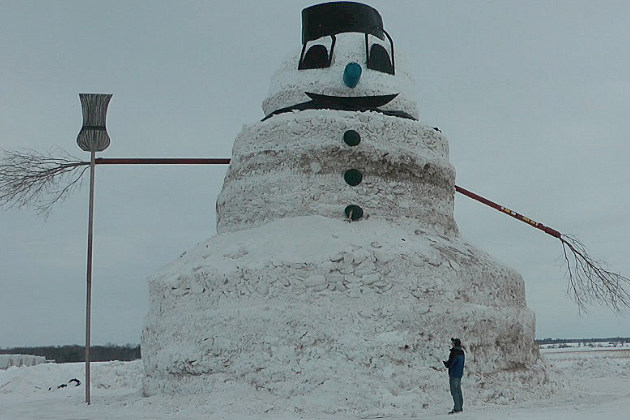 50-foot-tall Foley Snowman