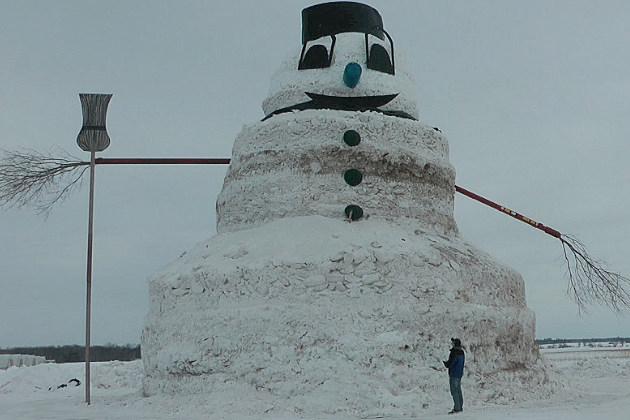 50-foot-tall Foley Snowman