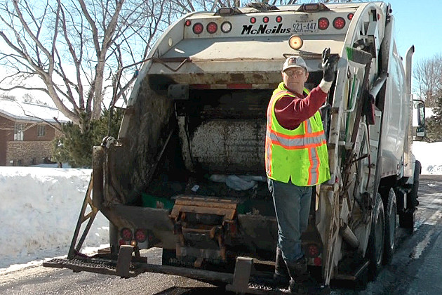 And disposing the garbage and recycling in st cloud video