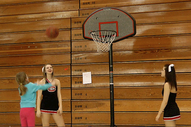 Basketball at Girls and Women in Sports Day