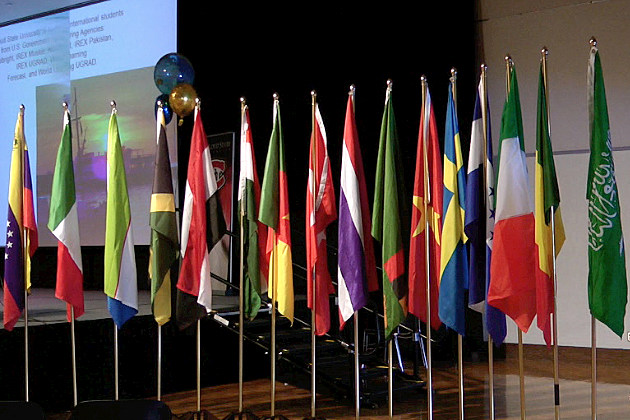 Flags on display at SCSU International Celebration