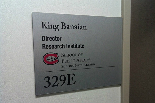 King Banaian Research Institute Office