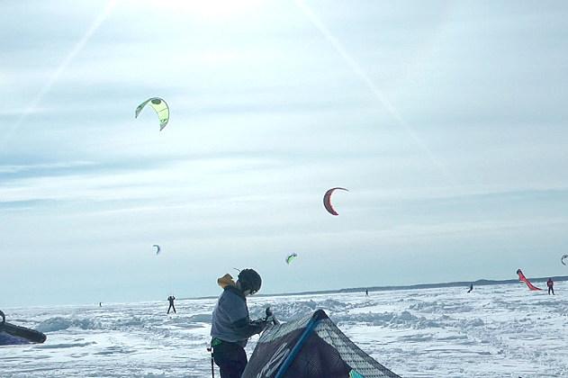 Lake Mille Lacs Winter Kitesurfing