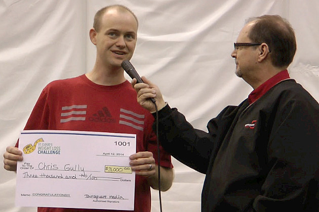 Chris Gully wins $3,000 after losing 66-pounds