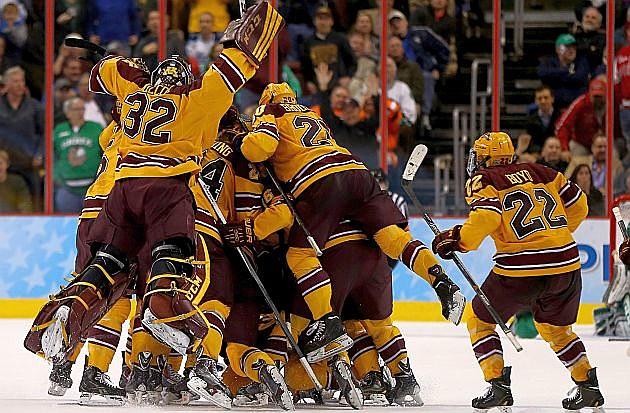 Minnesota Gophers Beat North Dakota On Last-Second Goal Gopher Hockey