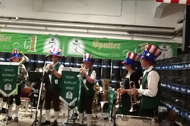 The St. Cloud Municipal Band performs in Spalt, Germany