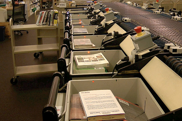 St. Cloud Library Book Sorting