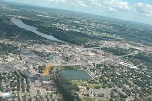 View of St. Cloud from the B-17 (Dan DeBaun, WJON News)