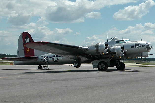 B-17 Bomber at the St. Cloud Airport