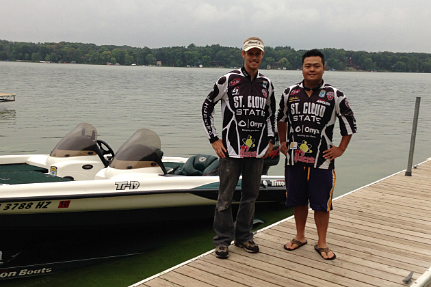 St cloud state students cast off at college fishing for College bass fishing