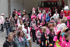 Breast Cancer survivors and supports show off their pride during Breast Cancer Awareness Month. (Photo: Alex Svejkovsky, WJON News)