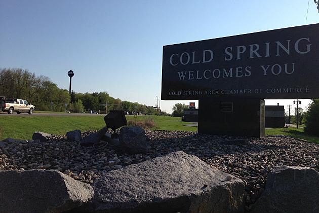 Cold Spring Welcome Sign (Photo: Alex Svejkovsky, WJON News)