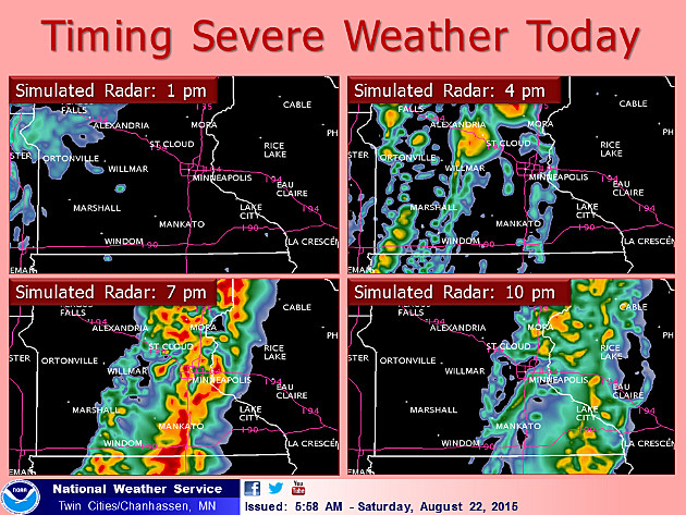 good chance for severe weather in central minnesota saturday