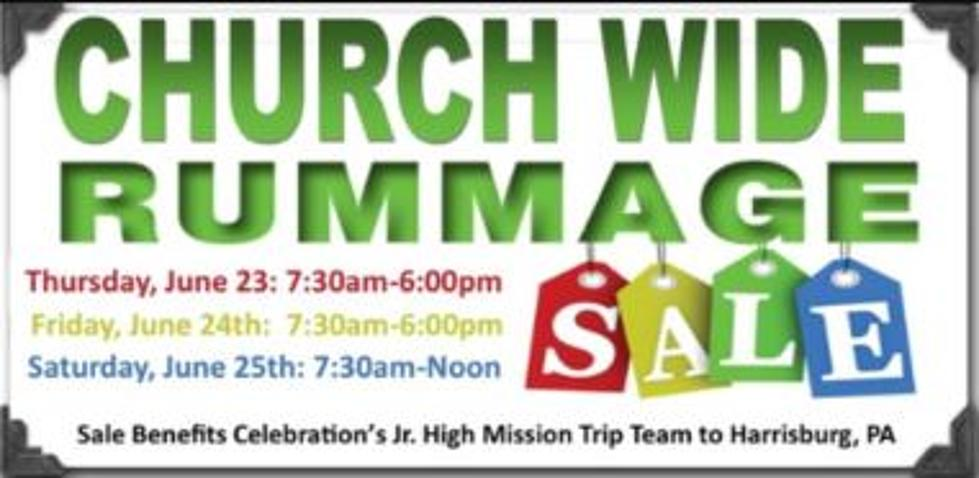 Celebration Lutheran's Annual Church Wide Rummage Sale