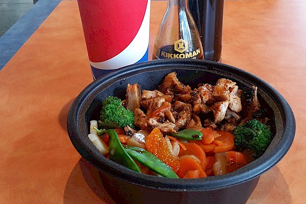 Yakitori Chicken Bowl with Brown Rice at Pacific Wok in St. Cloud (PHOTO: Tim Lyon, Townsquare Media St. Cloud)