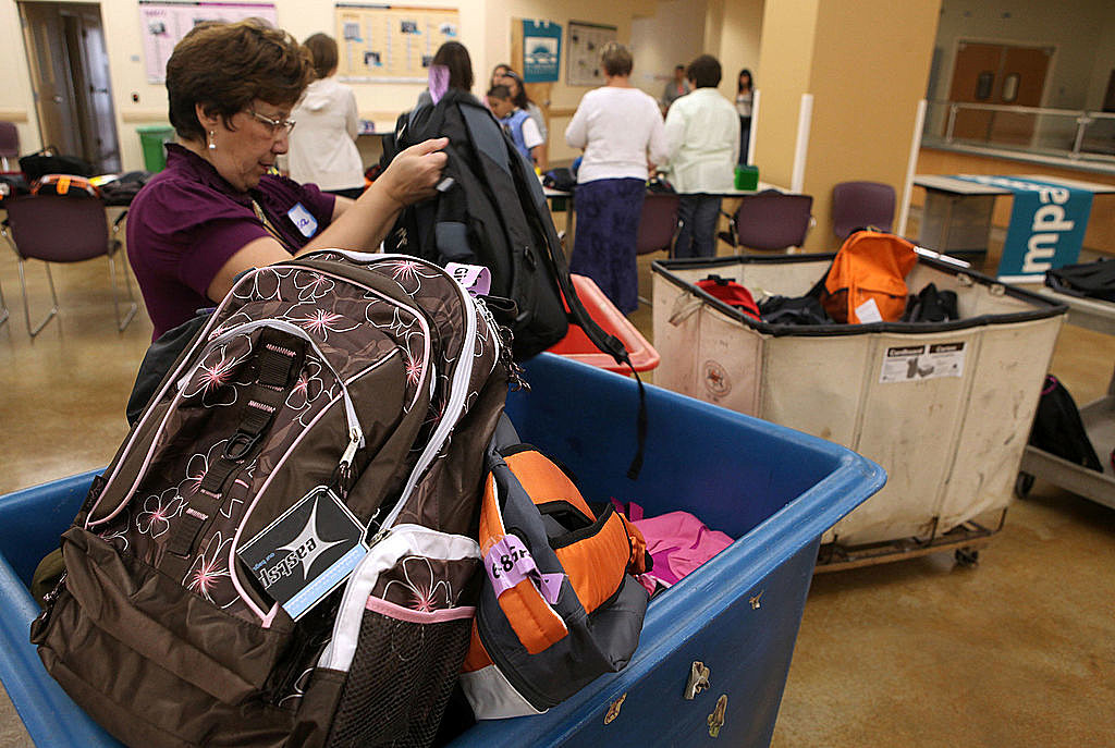 Free Backpacks Are Distributed To Needy Students Ahead Of New School Year