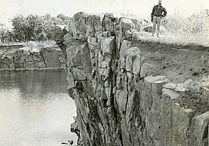 The search for the sisters concluded at a rock quarry. (Stearns History Museum; Myron Hall Collection)