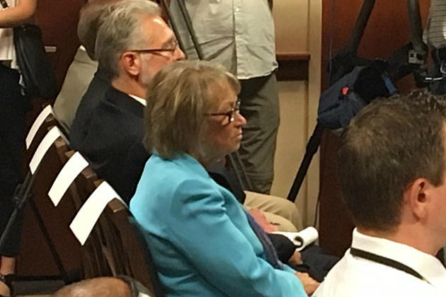 Patty Wettering at News Conference. (WJON News)