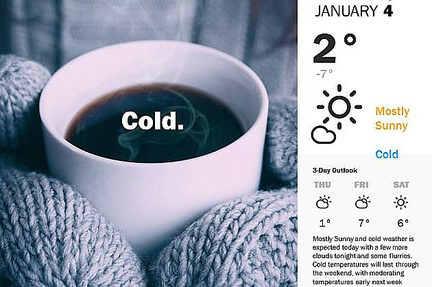 Much colder day ahead with snow expected Thursday