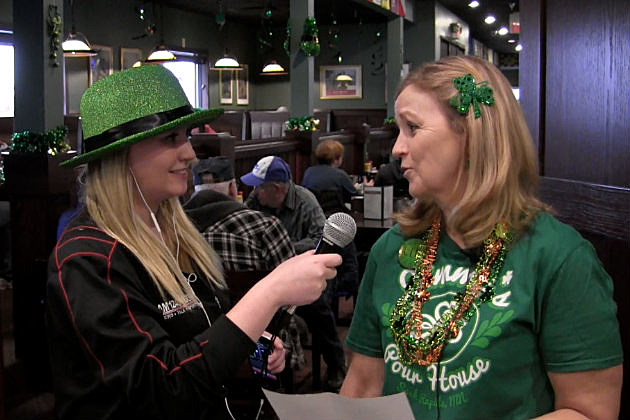 WJON Reporter Chrissy Gaetke talks with Jimmy's Pour House owner Dena Hagberg.