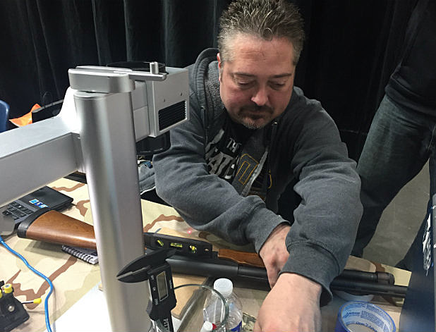 Midland Armory Engraving At Gun Show. By Justin l;aBounty