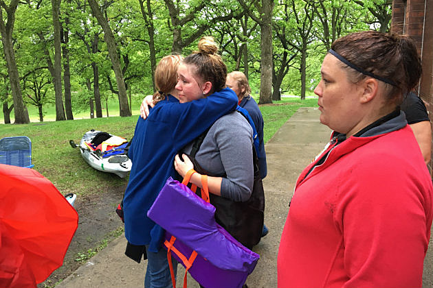 Family and friends rejoice after finding missing teen, Aaliyah Kasimer. (WJON News)