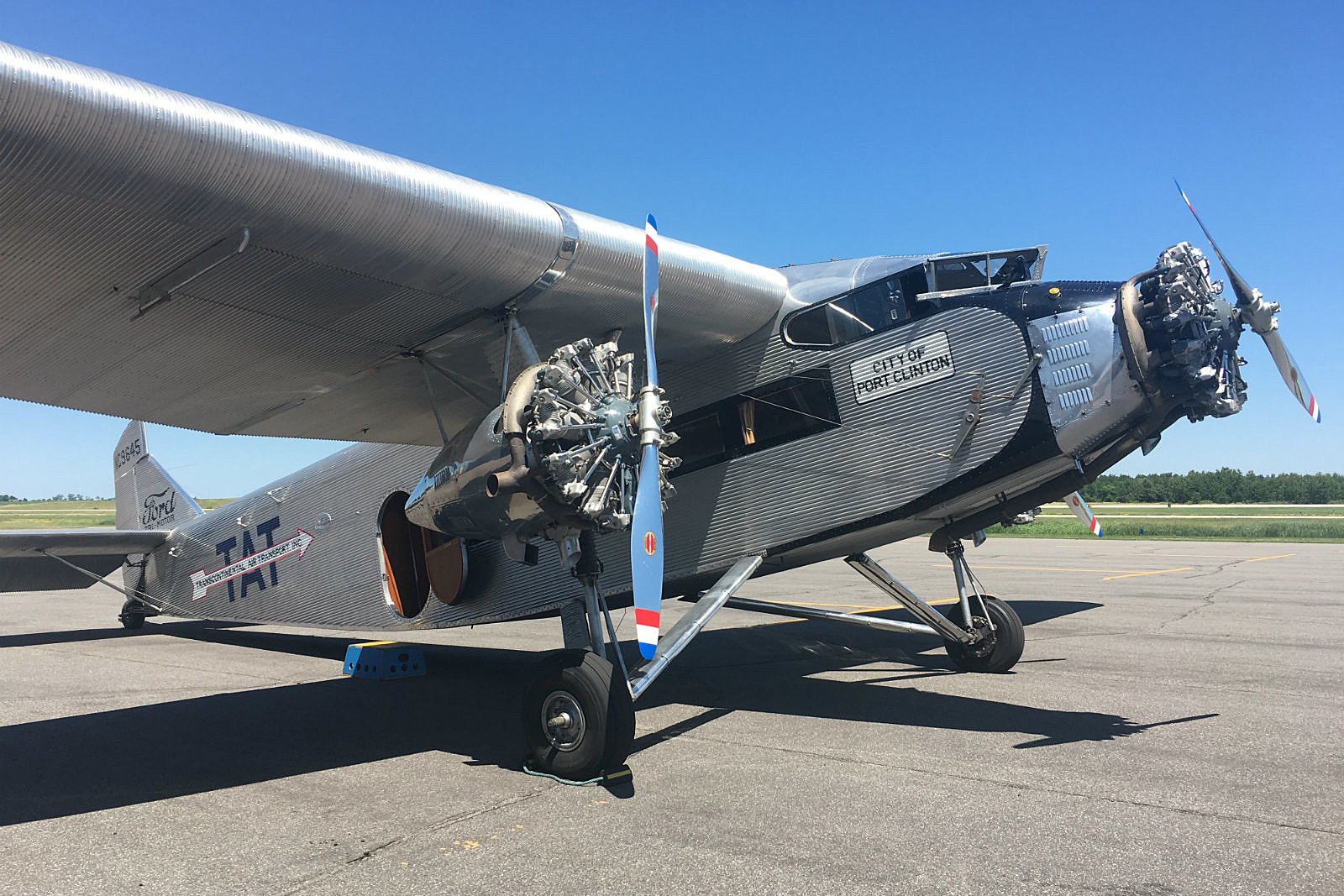 Around The Town Taking A Ride On A 1929 Ford Tri Motor
